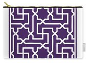 Moroccan Key With Border In Purple Carry-all Pouch