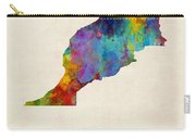 Morocco Watercolor Map Carry-all Pouch by Michael Tompsett