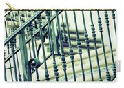 Mosaic And Iron Staircase La Quinta California Art District In Mint Tones Photograph By Colleen Carry-all Pouch