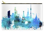 Moscow, Russia, Watercolor In Blue Carry-all Pouch
