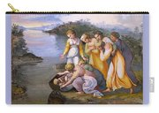 Moses Saved From The Waters Raffaello Sanzio Da Urbino Raphael Raffaello Santi Carry-all Pouch