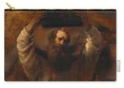Moses With The Ten Commandments Carry-all Pouch