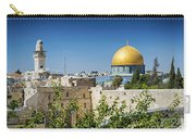 Mosques In Old Town Of Jerusalem Israel Carry-all Pouch