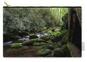 Moss Covered River Rocks Carry-all Pouch