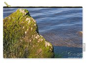Moss Covered Rock And Ripples On The Water Carry-all Pouch