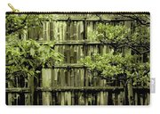 Mossy Bamboo Fence - Digital Art Carry-all Pouch