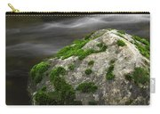 Mossy Boulder In Mountain Stream Carry-all Pouch