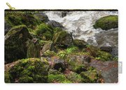 Mossy Rocks And Water Stream Carry-all Pouch