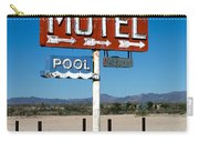 Motel Sign On I-40 And Old Route 66 Carry-all Pouch