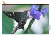 Moth On Blue Flower Carry-all Pouch