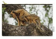 Mother And Baby Black Howler Monkeys Climbing Carry-all Pouch