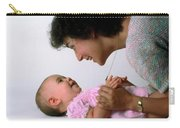 Mother And Baby Girl Smiling Carry-all Pouch
