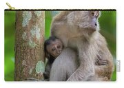 Mother And Baby Monkey Carry-all Pouch