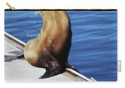 Mother And Baby Sea Lion At Oceanside  Carry-all Pouch