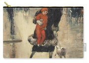 Mother And Child On A Street Crossing Carry-all Pouch