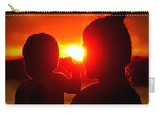 Mother And Child On Sunset Carry-all Pouch