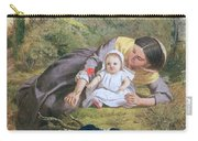 Mother And Child With A Poppy Carry-all Pouch