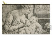 Mother And Child With Skull And Hourglass Carry-all Pouch