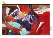 Mother And Newborn Child Carry-all Pouch by Kathy Braud