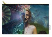 Mother And Son - Passing The Torch Of Vision Carry-all Pouch