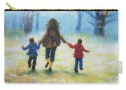 Mother And Two Sons Out For A Walk Carry-all Pouch