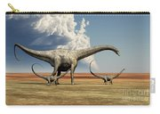 Mother Diplodocus Dinosaur Walks Carry-all Pouch