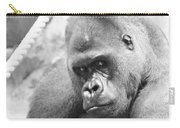 Mother Gorilla In Thought Carry-all Pouch