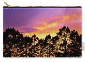 Mother Of Pearl Behind Tree Lace Carry-all Pouch
