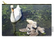 Mother Swan And Baby Cygnets Carry-all Pouch