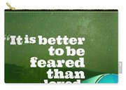 Motivational Inspiring Quotes, Designed By Asar Studios  - Niccolo Machiavelli Carry-all Pouch