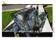 Motorcycle And Park Bench As Art Carry-all Pouch