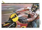 Motorcycle Racing Carry-all Pouch by Graham Coton