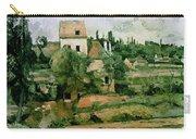 Moulin De La Couleuvre At Pontoise Carry-all Pouch by Paul Cezanne