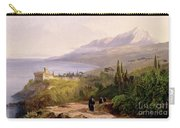 Mount Athos And The Monastery Of Stavroniketes Carry-all Pouch by Edward Lear