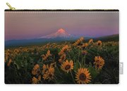 Mount Hood And Balsam Root Blooming In Spring Carry-all Pouch