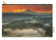 Mount Hood And Sandy River Valley Sunrise Carry-all Pouch