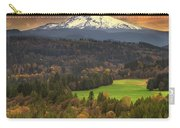 Mount Hood At Sandy River Valley In Fall Carry-all Pouch