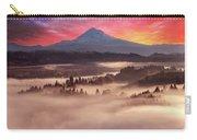 Mount Hood Foggy Sunrise Carry-all Pouch