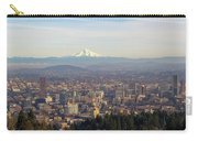 Mount Hood Over City Of Portland Oregon Carry-all Pouch