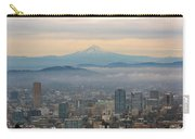 Mount Hood Over Portland Downtown Cityscape Carry-all Pouch
