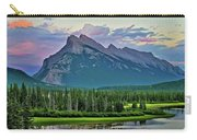 Mount Norquay At Dusk Carry-all Pouch