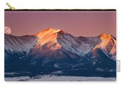 Mount Princeton Moonset At Sunrise Carry-all Pouch