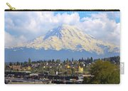Mount Rainer Over Port Of Tacoma Carry-all Pouch