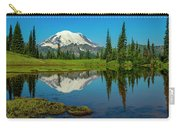 Majestic Reflection - Mount Rainier - 2 Carry-all Pouch