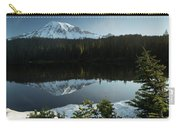 Mount Rainier Reflection Lake W/ Tree Carry-all Pouch