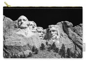 Mount Rushmore Bw Carry-all Pouch