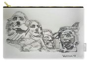 Mount Rushmore Graphite Pencil Sketch Carry-all Pouch