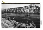 Mount Scott Behind Crater Lake B W Carry-all Pouch