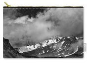 Mount Shasta In Black And White Carry-all Pouch