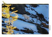 Mountain Goat And Larches Carry-all Pouch